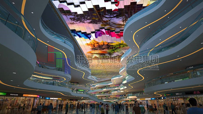 室内外LED5D动感天幕显示屏制作效果图片
