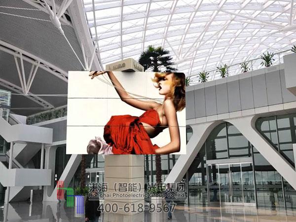 LED旋转变形显示屏制作效果图片
