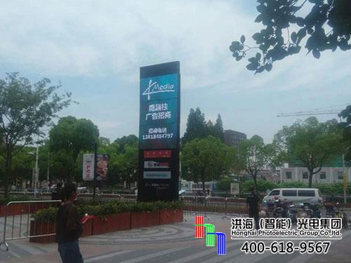 """广告界""""新网红""""—LED旋转魔方柱屏再次登陆上海"""