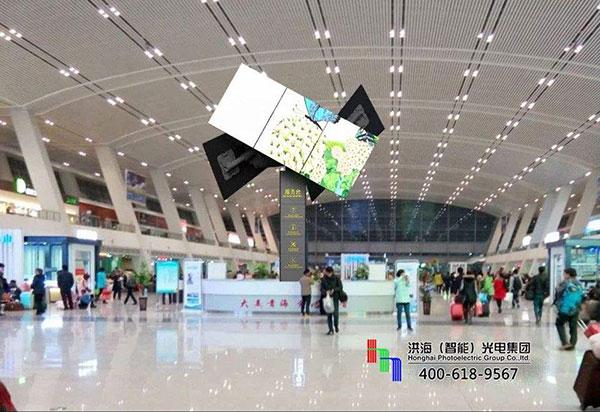 """百变造型机场广告屏创建室内广告展示新""""名片""""图片"""