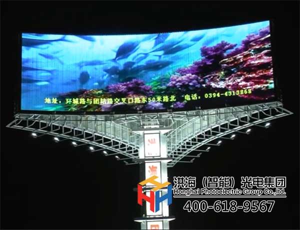 传统三面翻广告牌升级LED两面翻新样式展示