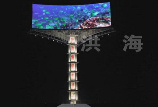 户外LED广告显示屏的广告优势和存在的一些问题-以LED三面翻广告牌为例图片