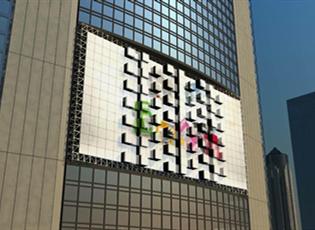洪海会跳舞的led电子显示屏 led升降屏 舞台墙体楼体亮化装饰用方块凸起落下升降的led电子显示屏