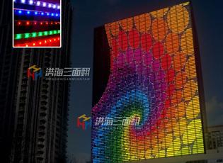 在玻璃幕墙上安装透明LED显示屏的工程方案!