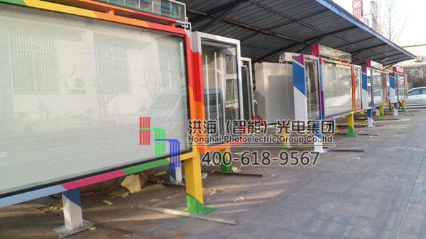 河北沧州单面阅报栏换画灯箱施工图片