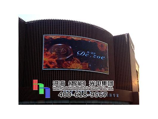 江苏徐州墙面LED两面翻展示屏工程案例图