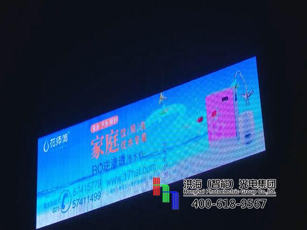 上海奉贤LED两面翻全彩屏广告牌施工图片
