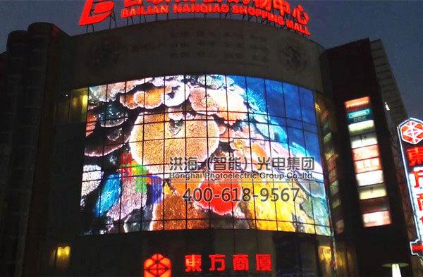 上海led玻璃幕墙城市亮化施工图片