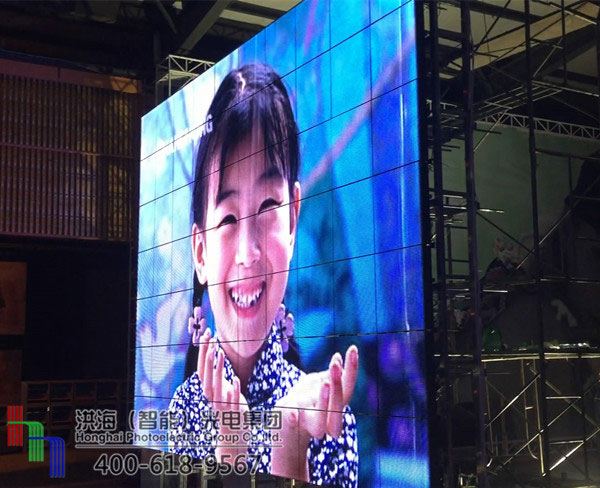 马来西亚会跳舞的led显示屏施工图片