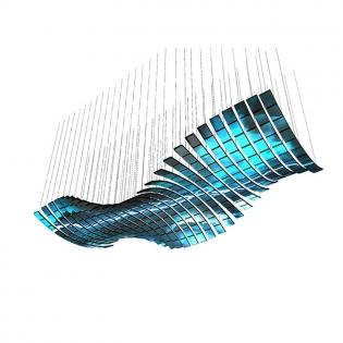 大波浪漂浮天幕|悬浮天幕|5D天幕