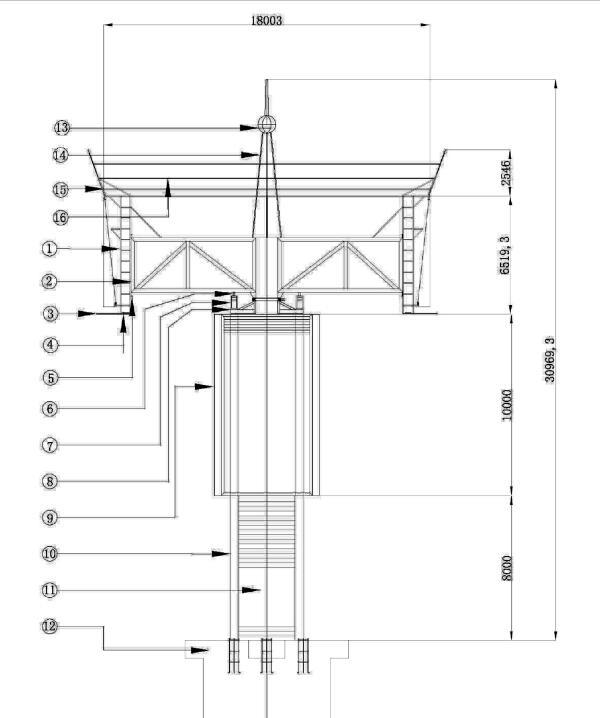 旋转皇冠高炮结构图