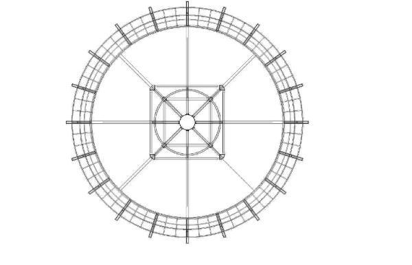 旋转皇冠高炮结构示意图