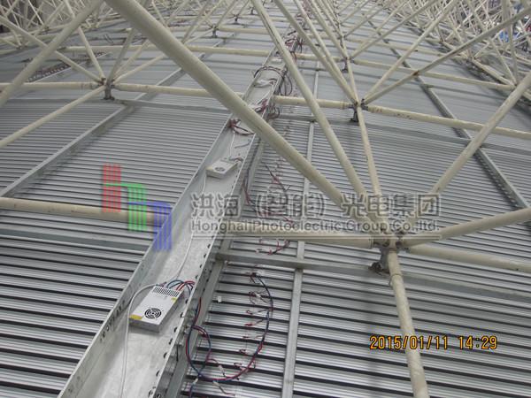 广东led天幕钢构施工现场