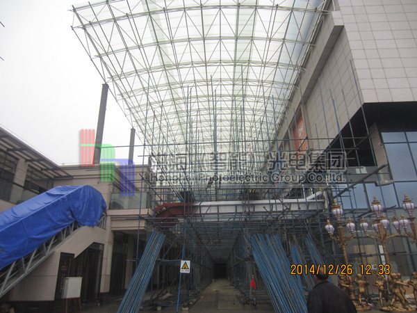 广东云浮led天幕钢构现场