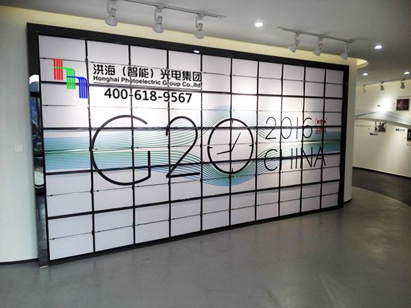 浙江杭州室内墙体十面翻展示牌