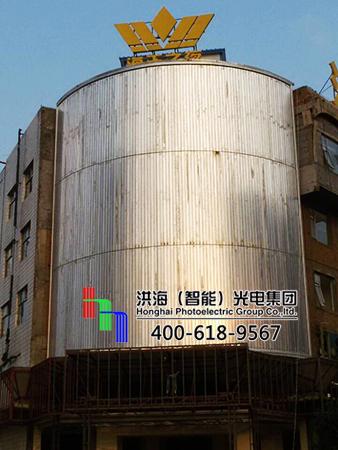 山西晋中圆弧分段三面翻广告牌
