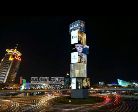 洪海户外LED景观魔方柱灯应用价值