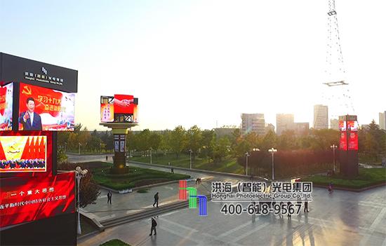 LED旋转圆柱屏扮靓枣庄—开创智能景观展示新征途