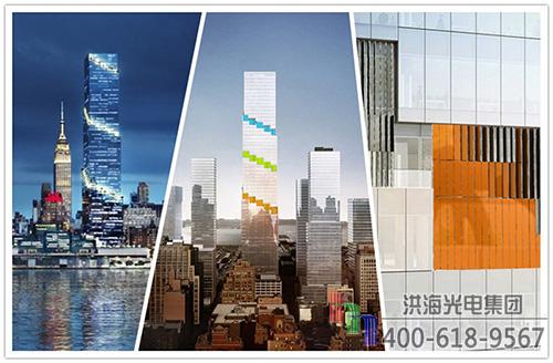 户外建筑楼宇装饰玻璃幕墙百叶类型特征