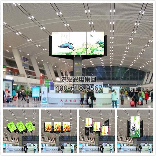 洪海三角旋转LED拼接屏筑造室内外创意广告显示之美图片