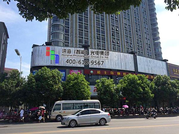 江西九江裙楼三面翻墙体广告牌