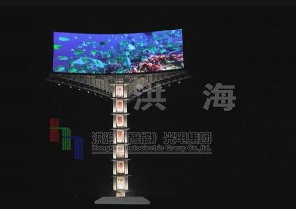 LED两面翻屏/LED三面翻显示屏效果图