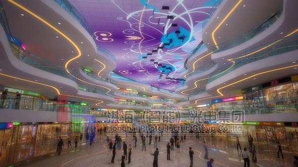 室内户外LED5D动感天幕显示屏效果图