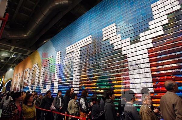 LED魔方矩阵像素幕墙亮化效果图