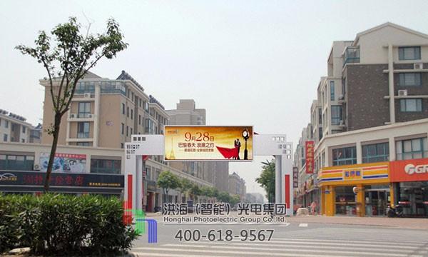 跨路过街龙门架广告牌效果图