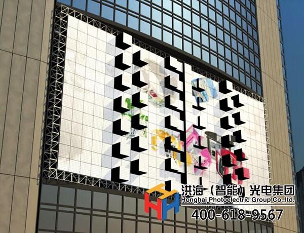 LED凹凸屏_LED机械3D跳舞屏效果图